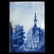 """Large Early Delft Plaque 23"""" x 17 1/2"""""""