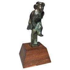 Chaim Gross American 1904-1991 Rare Bronze Sculpture Girl Pole Vaulter Sports