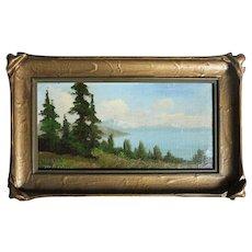 Richard DeTreville  (1864 - 1929) oil of Lake Tahoe