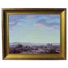 Conrad Buff early oil on canvas Los Angeles California artist