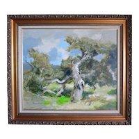 "Douglass Parshall  (1899 - 1990) Large Org Oil ""Gnarled Oak"""
