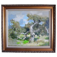 "Douglass Parshall  (1899 - 1990) Large Org Oil ""Gnarled Oak"""