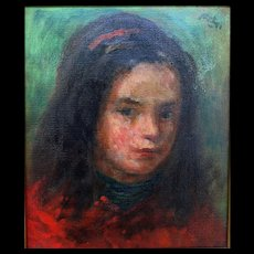 Robert Philipp (1895 - 1981) Org. Oil of Young Girl
