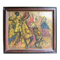 Feliks Topolski (1907 - 1989) Rare Oil by Polish / British Artist