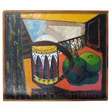 Walter Peregoy  (1925 - 2015)  1952Modernist Org Oil, Disney Artist