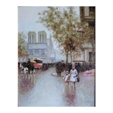 Andre Gisson. Paris Vintage Original Painting Impressionist.