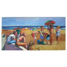 Raymond Cuevas Org. California Beach Painting