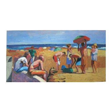Raymond Cuevas Org. California Beach Painting