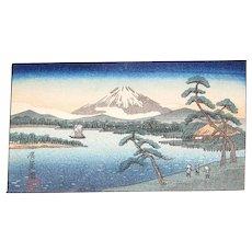 Vintage Ando Hirishigi Wood Block Print