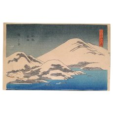 "Vintage Ando Hirishigi titled ""Mt. Fuji with Snow"""
