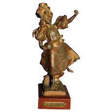 VIENS JOUER Par Bruyneel Antique Bronze