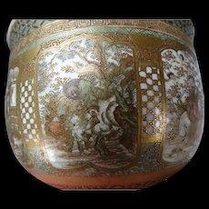 Antique Meiji Japanese Satsuma Pottery Bowl c1900 Finest