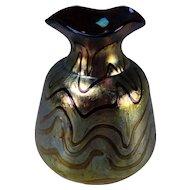 Art Nouveau Bohemian Loetz/Kralik Iridescent Glass Vase
