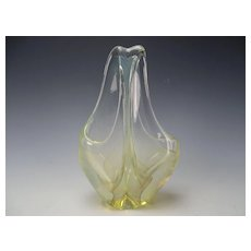 Whispy Veiled Charles Wright Cased Studio Art Glass Vase