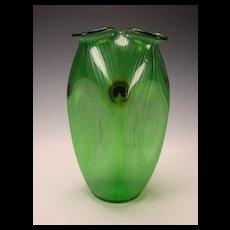 RARE Antique Loetz Lotz Glass Peacock Iridescent Glas Vase c1899 Pfauenauge