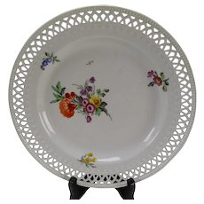 c1815 KPM German Porcelain Reticulated Plate