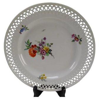 c1815 KPM German Porcelain Reticulated Plate