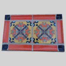 c1930's Monterey or Catalina California Tile Top Table Wrought Iron