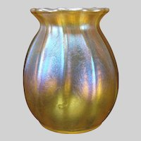 Antique Tiffany LCT Iridescent Aurene Miniature Glass Vase