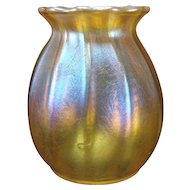 Antique Tiffany Iridescent Aurene Miniature Glass Vase