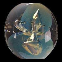 Fine Eickholt Moon Jelly Signed 1991 Studio Art Glass Paperweight