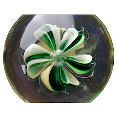Vintage Charles Wright Studio Lampwork Glass Paperweight AF