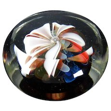 Fine Signed Dated Charles Wright Lampwork Ribbon Glass Paperweight