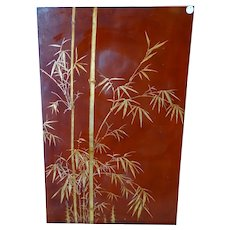 Fine Nguyen Thanh Le Signed Lacquer on Wood Panel Signed