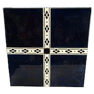 Fine Secessionist Bauhaus Pottery Wrought Iron Tile Top Table