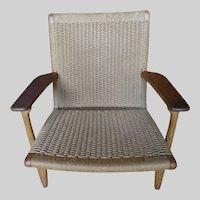Mid Century Modern Hans Wegner Rope Woven Chair ch25 for Carl Hansen