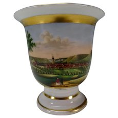 Antique 19c German Porcelain Hand Painted Fena Scenic Cup