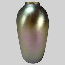 Antique Art Nouveau Iridescent Favrile Aurene Art Glass Vase