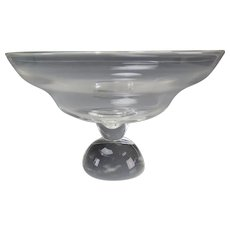 Steuben Glass Mid Century Footed Crystal Bowl or Centerpiece