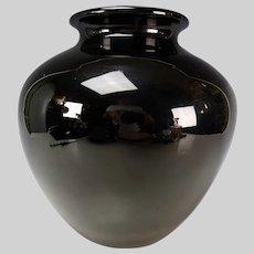 Antique Steuben Carder Black Art Glass Vase c1920