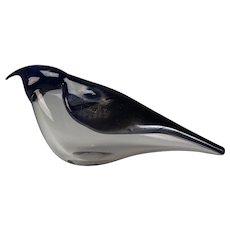 Vintage Venini Italia Zuccheri Iridescent Italian Glass Bird Signed