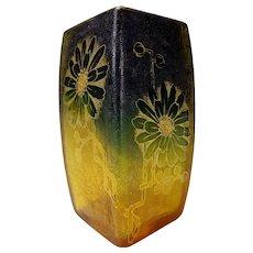 Antique Joseph Riedel Art Nouveau Cameo Gilt Glass Vase