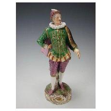 Antique Royal Vienna Austrian Commedia Dell Arte Figurine Figure