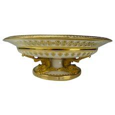 Antique c1821 Sevres Porcelain Serpent Dolphin Compote Vase