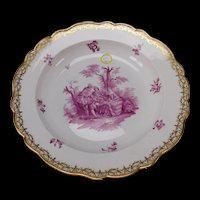Huge Meissen Porcelain 19c Hand Painted China Vegetable Serving Bowl