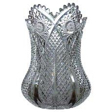 Antique American Brilliant Cut Glass Vase