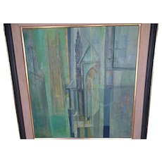 William C Palmer Modernist Oil on Canvas Painting Signed Listed