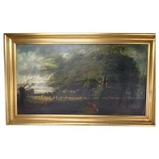 Antique Oil Painting BF Signed Unknown AF