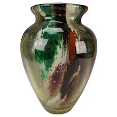 French Rosseau/Leveille Art Nouveau Glass Vase c1890