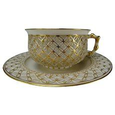 Sevres Porcelain Double Wall Cup and Saucer