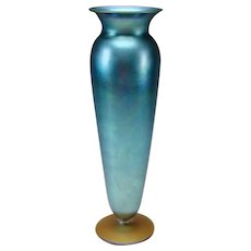 "Art Nouveau Durand Iridescent 14"" Art Glass VASE"