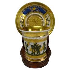 Antique Flight Barr Barr Elegant Worcester Porcelain Cup and Saucer