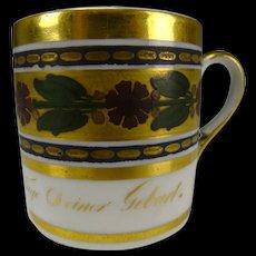 Antique 18c/19c German Porcelain GIlt Enamel Cup