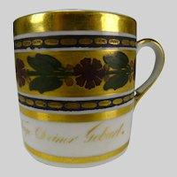 Antique German Porcelain Gilt Enamel Cup