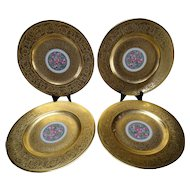 4 AOG Hutschenreuter Stouffer Studio Gold Decorated Plates