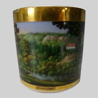 Antique German or French Porcelain Hand Painted Cup c1825